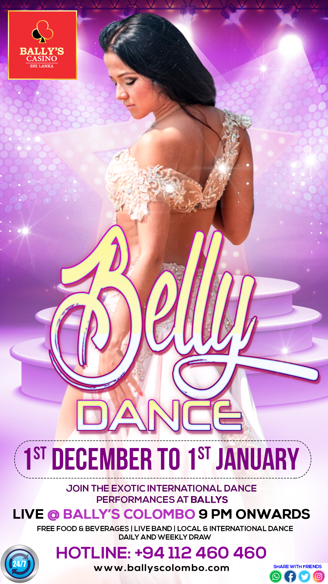 first rate shop best sellers crazy price Ballys-Belly-dance - Bally's Colombo